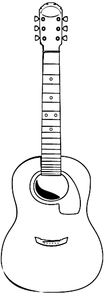 Acoustic Guitar Outline Music Instruments Guitar
