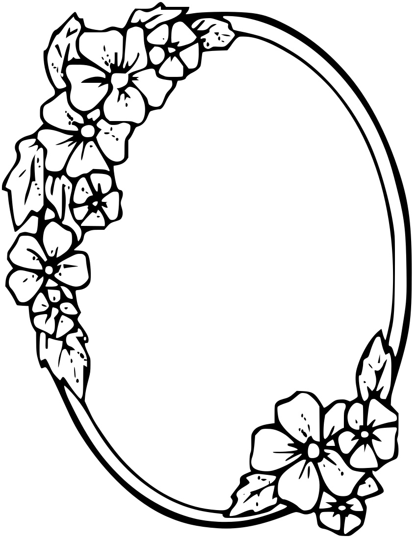 Floral_oval_frame.png on Mothers Drawings Coloring