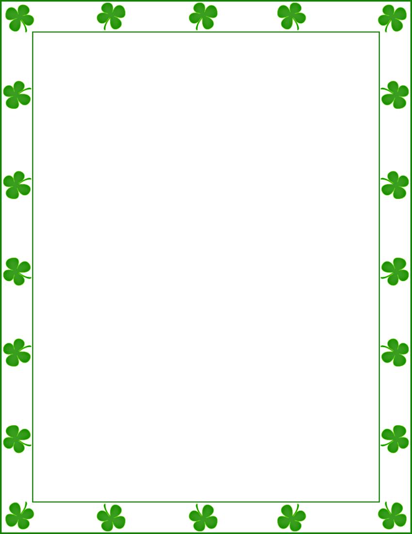 saint Patrick shamrock border - /page_frames/holiday/St_Patricks_Day/saint_Patrick_shamrock ...