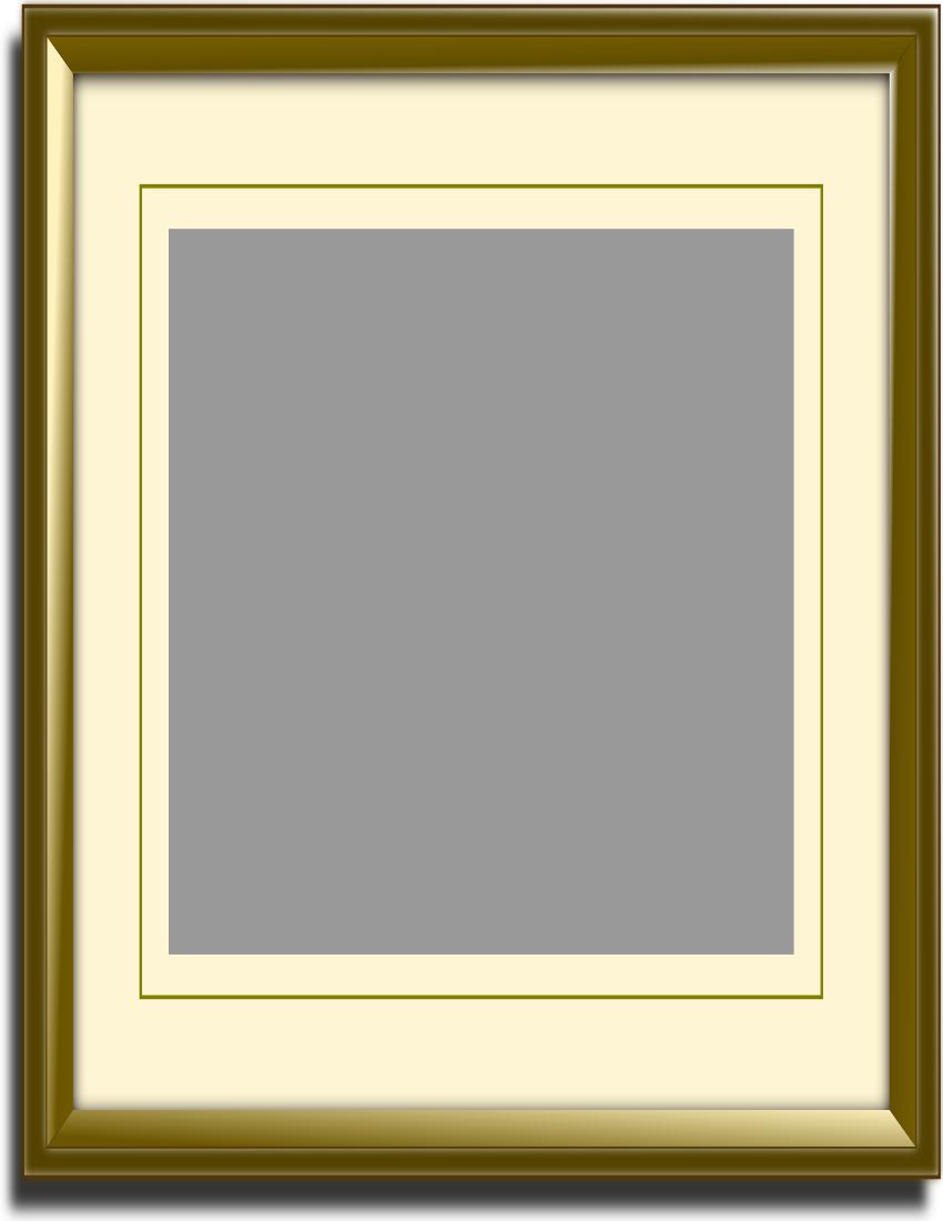 Gold Frame W Matte Page Frames Matte Frames Gold Frame