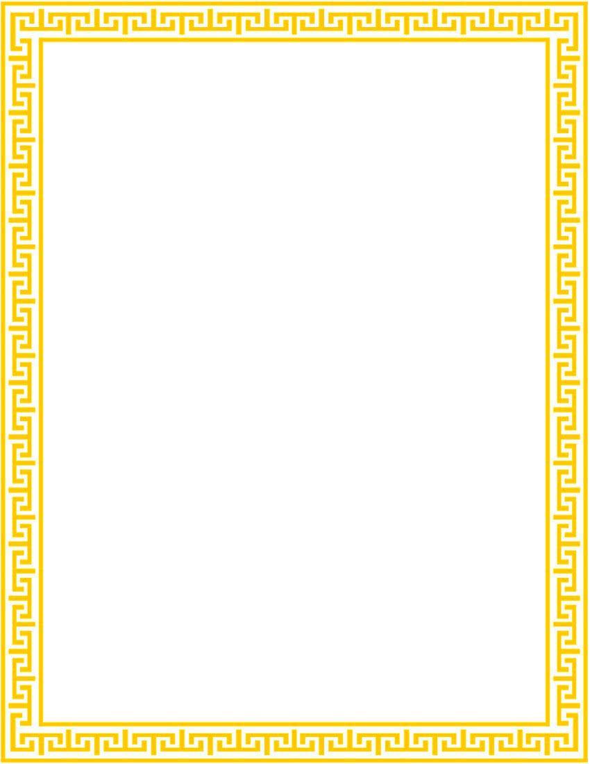 greek lines page outline gold - /page_frames/old_ornate ...