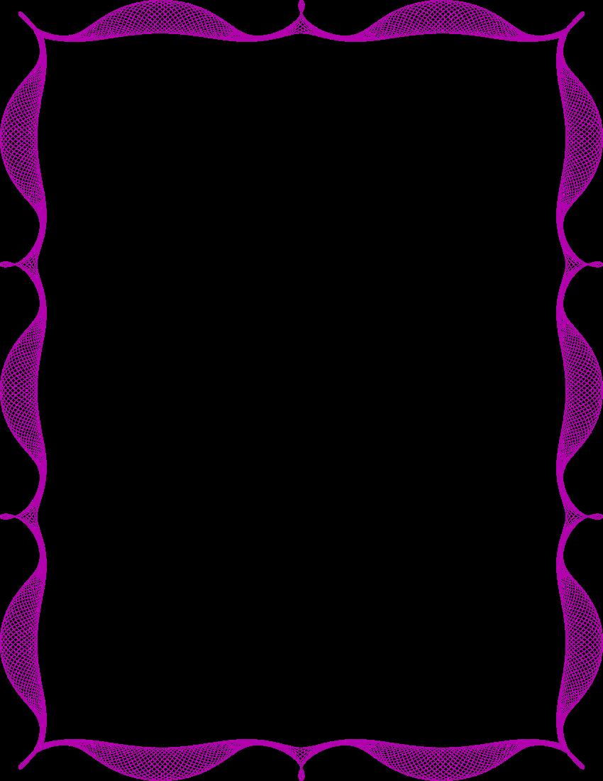spiro frame purple   page frames  spiral border  spiro clipart border clip art borders free