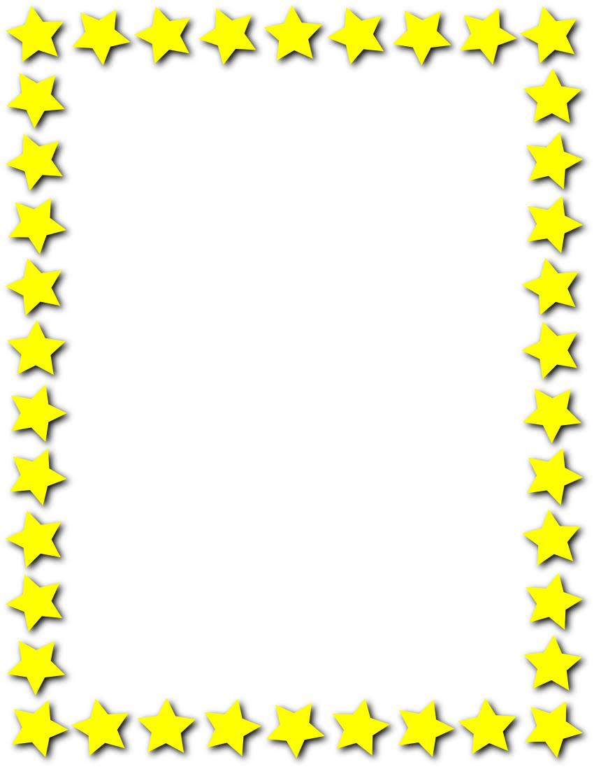 star frame yellow   page frames  star border  star frame clip art borders and frames clipart border designs
