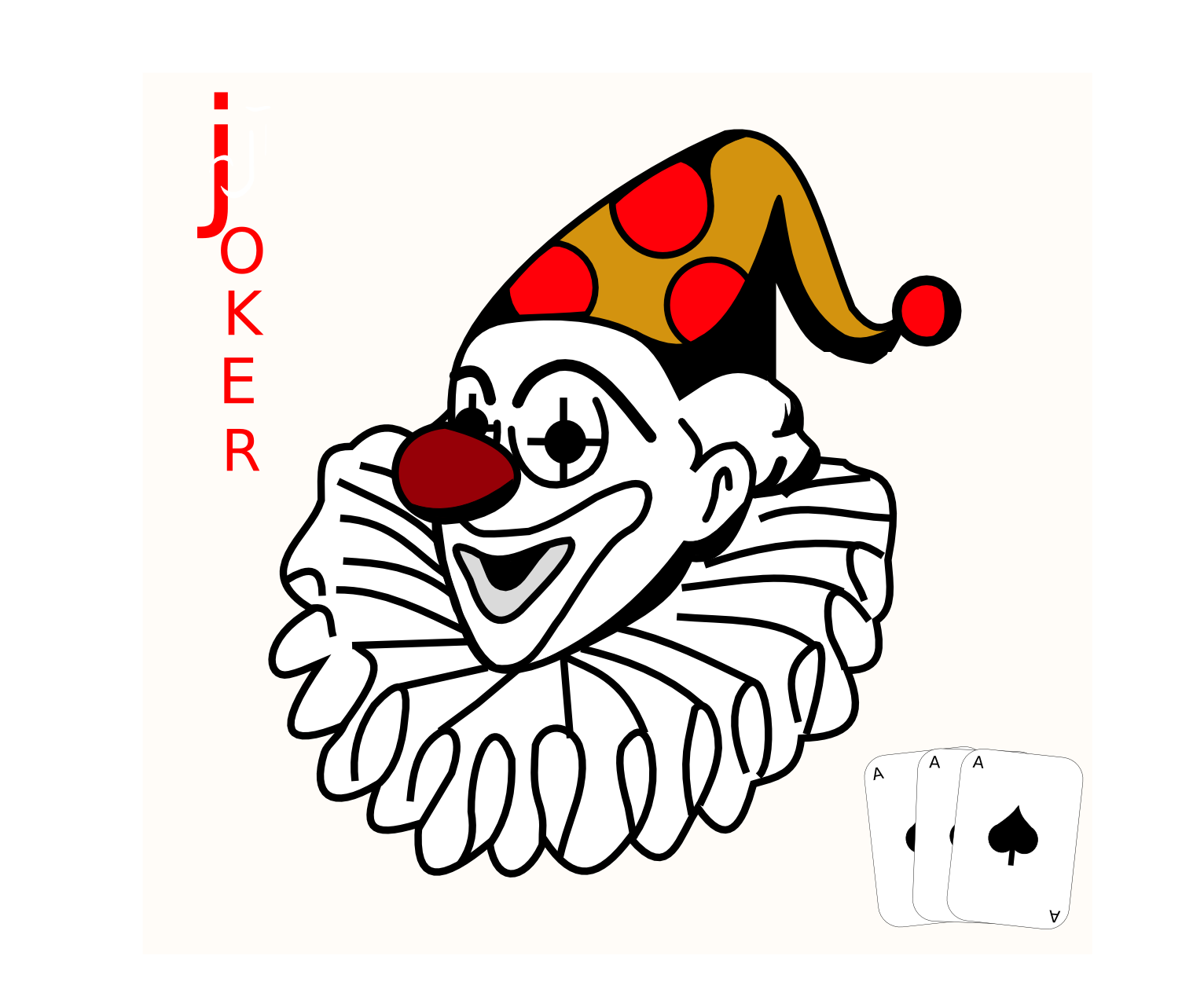 joker face   recreation  games  card deck  cards symbols playing cards clipart deck of cards clipart black and white
