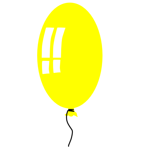 balloon skinny yellow   recreation  party  more balloons birthday balloons clipart red white and blue birthday balloons clip art clown
