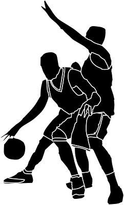 Basketball Players Dark Recreation Sports Basketball