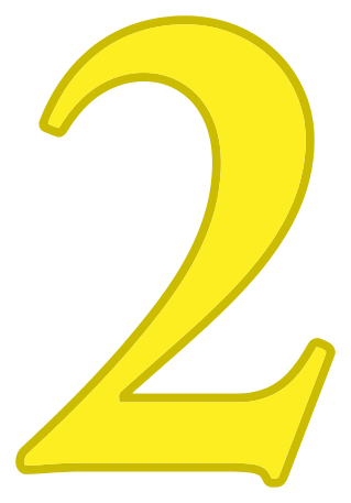 Number 2 Yellow Signs Symbol Alphabets Numbers Color
