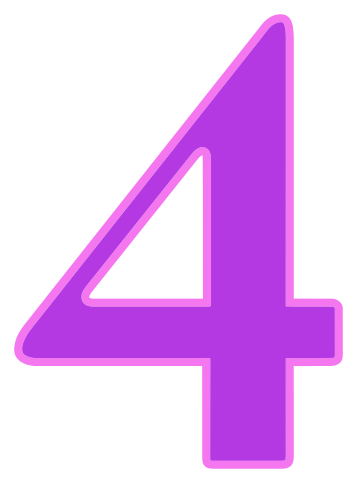 number 4 purple - /signs_symbol/alphabets_numbers/color ...