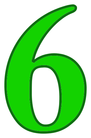 Number_6_green.png on Color By Number
