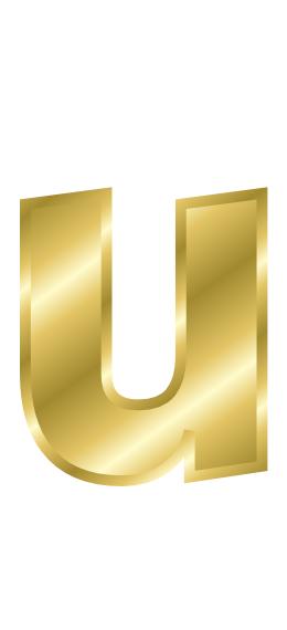 gold letter u   signs symbol  alphabets numbers  gold  gold clipart letters and numbers clip art letter h