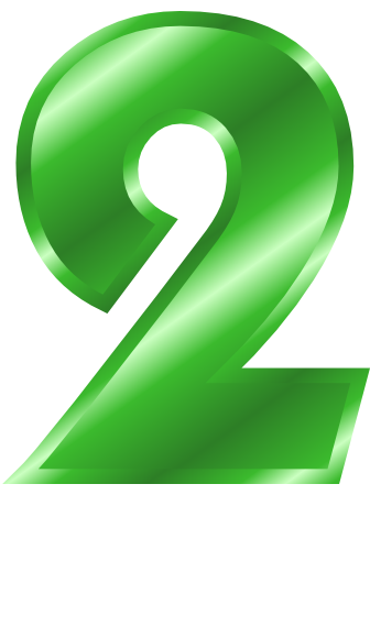 green metal number 2  signs symbol  alphabets numbers