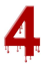 Number Dripping 4 Signs Symbol Alphabets Numbers