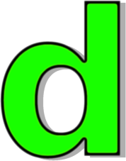 lowercase D green - /signs_symbol/alphabets_numbers ...