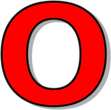 capitol o red   signs symbol  alphabets numbers  outlined o clip art for kindergarten o clipart old english warriors