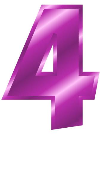 purple metal number 4  signs symbol  alphabets numbers  purple metal  purple metal number 4 png html