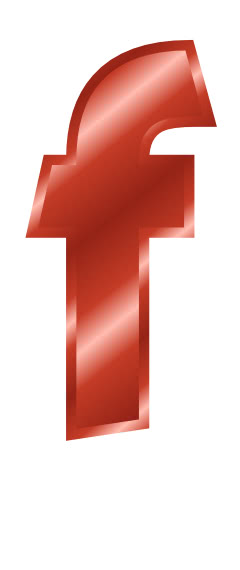 red metal letter f  signs symbol  alphabets numbers  red
