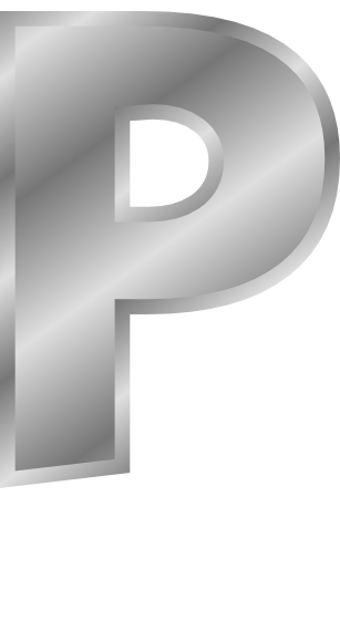 silver letter capitol p  signs symbol  alphabets numbers