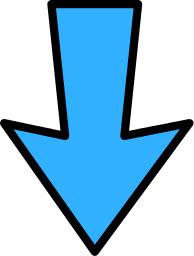 arrow outline blue down - /signs_symbol/arrows/arrows ...