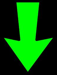 Resultado de imagen para small green arrow down transparent images