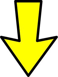 Arrow Outline Yellow Down Signs Symbol Arrows Arrows