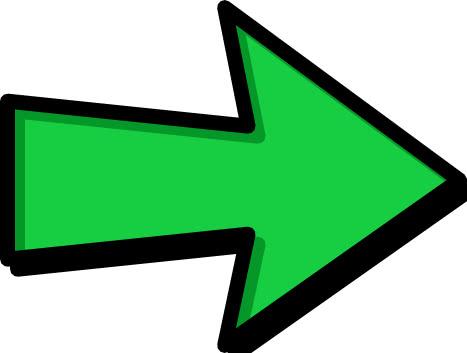 Arrow Outline Green Right Signs Symbol Arrows Arrows