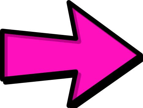 Arrow Outline Pink Right Signs Symbol Arrows Arrows