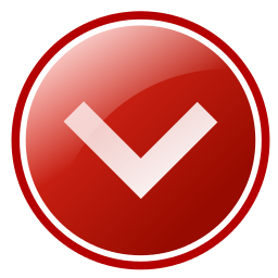 direction arrow red down - /signs_symbol/button/button ...