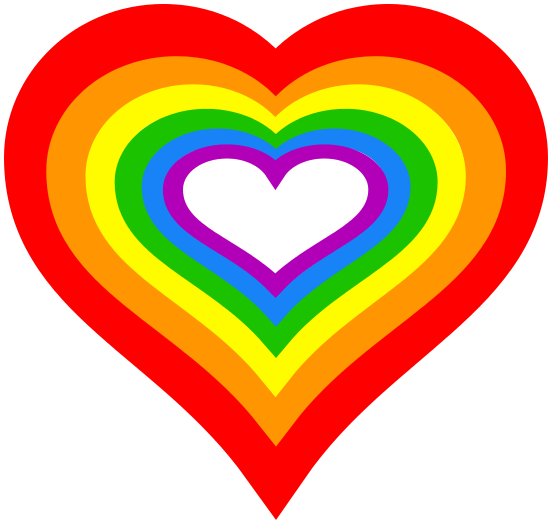 rainbow love heart - /signs_symbol/love/hearts/rainbow ...