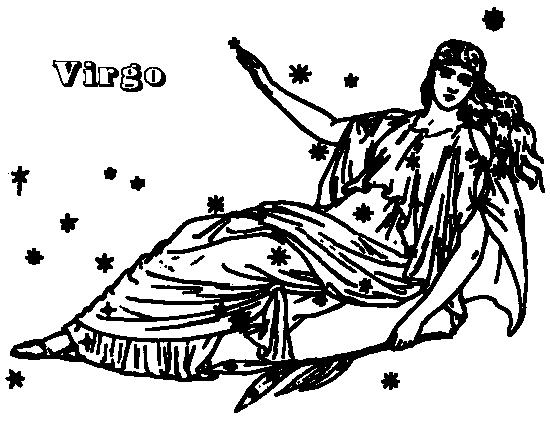 Zodiac Line Drawing : Virgo signs symbol zodiac drawings