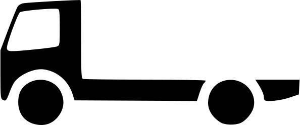 Flatbed Truck Bw Icon Transportation Car Icons Bw