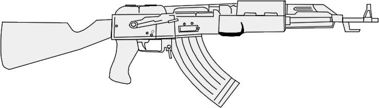 ak 47 gray weapons guns ak47 ak 47 gray png html
