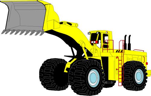 excavator large   working  vehicles  excavator  excavator clip art construction cone clip art construction person