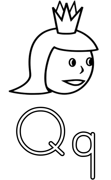 Q is for Queen educationalphabetQ is for Queenpnghtml