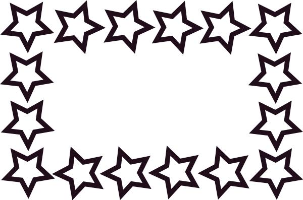 Star Border Education Awards Certificate Star Border