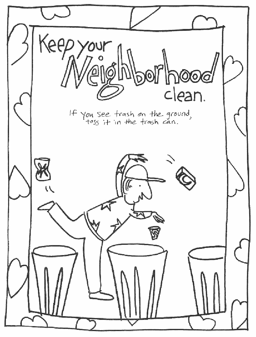 keeping clean coloring pages - photo#1
