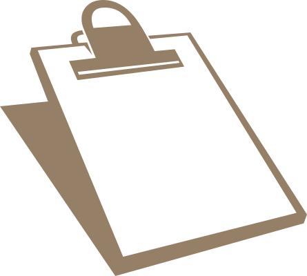 Clipboard Silhouette Education Supplies Clipboard