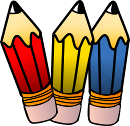 pencils three   education  supplies  pencils  stubby pencils Cute School Clip Art cute teacher clip art with balloons