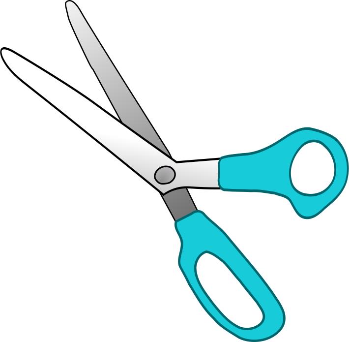 round tip scissors cyan   education  supplies  scissors scissors clip art mac scissors clip art free