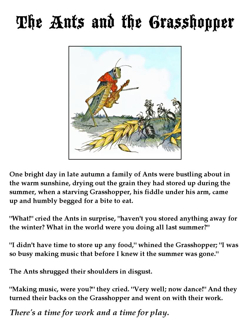 ant and the grasshopper page - /fictional_characters/Aesop ...
