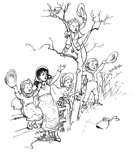 Kids Waving Goodbye