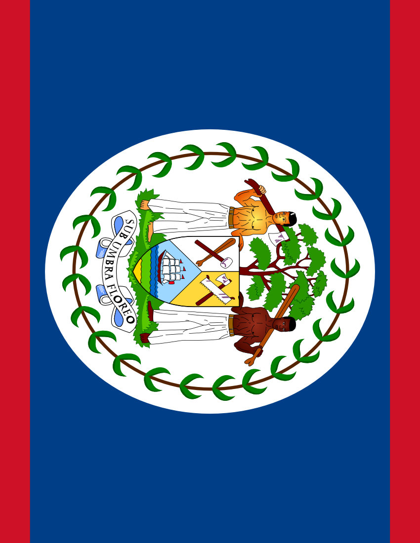 Belize Flag Full Page Flags Countries B Belize Belize Flag Full Page Png Html