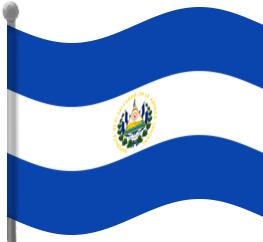 el salvador flag waving - /flags/Countries/E/El_Salvador ...