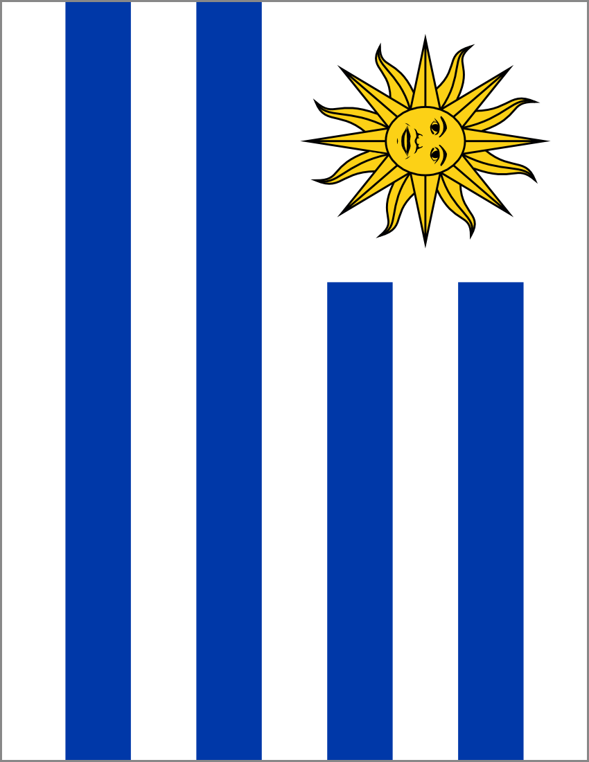 Uruguay Flag Full Page FlagsCountriesUUruguay - Uruguay flag