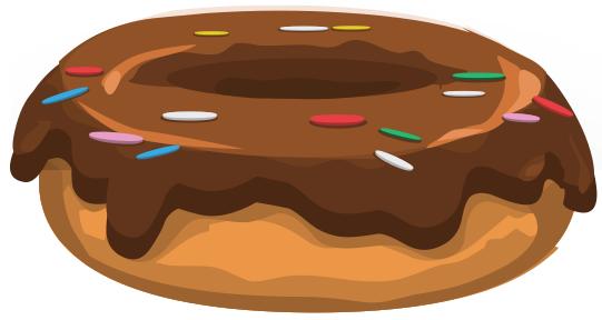Chocolate Donut Birthday Cake