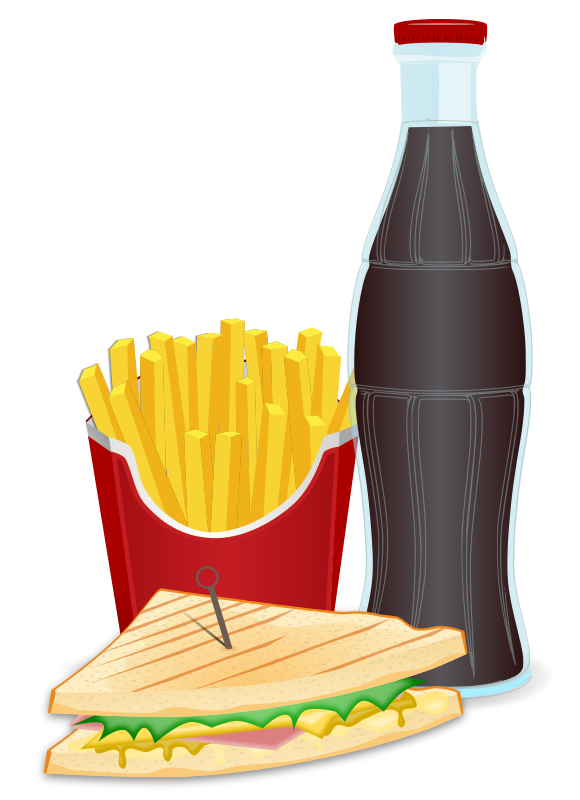 Sandwich Fries Lunch