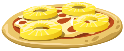 Pineapple Pizza Food Pizza Pineapple Pizza Png Html
