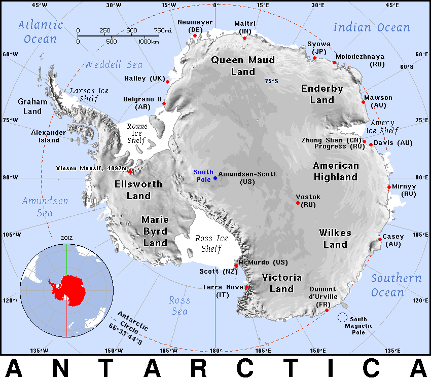 Antarctica detailed geography Country Maps A Antarctica Antarctica detaile
