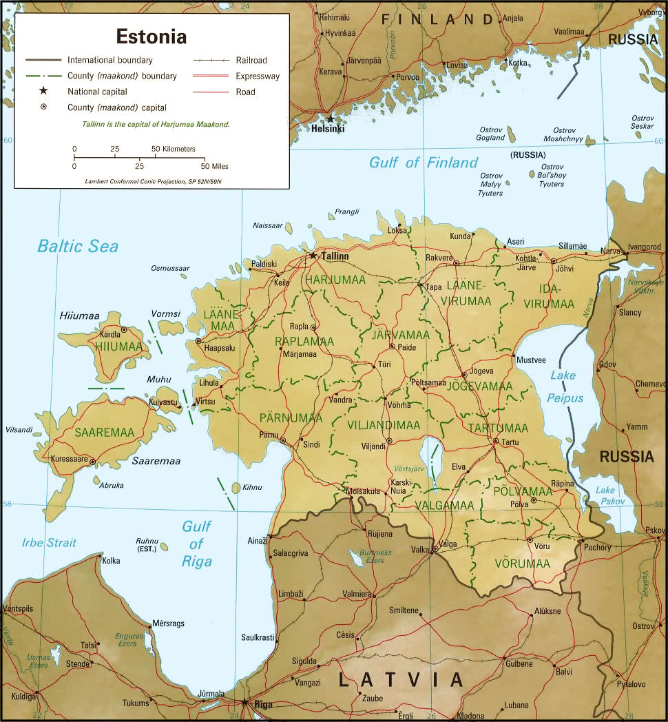 Estonia Relief Map GeographyCountryMapsEEstonia - Estonia map download