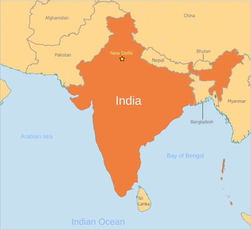 India Map Location India map location label   /geography/Country_Maps/I/India