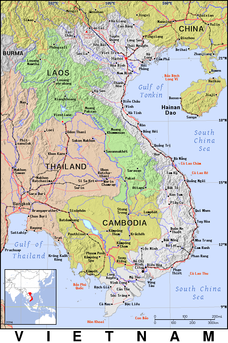 Vietnam detailed 2 - /geography/Country_Maps/V/Vietnam